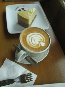 Cake and coffee in Kuala Lumpur at The Brew Culture