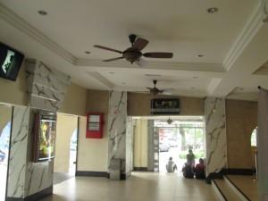 Entrance lobby to Coliseum cinema in Kuala Lumpur