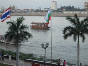 Views of the Mekong from Phnom Penh's Foreign Correspondents' Club