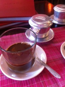 Vietnamese coffee in Sapa
