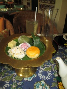 Sweet nibbles for afternoon tea in Bangkok