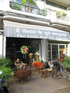 The Little Red fox espresso bar in Siem Reap