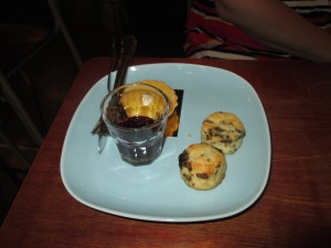 Mini scones at Ink & Lion cafe in Bangkok