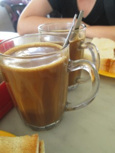 Coffee in Kluang at the railway station