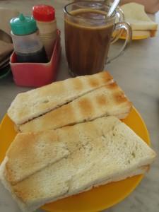 Kaya toast in Kluang