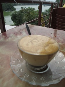 Eggy coffee at Pho Co Cafe in Hanoi