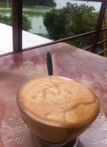 Eggy coffee with a view in Hanoi