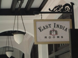 East India rooms at Raffles