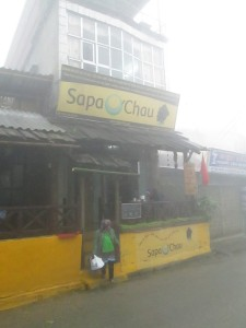 O'Chau in Sapa in the mist