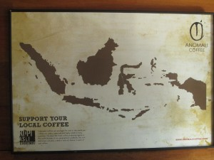 Indonesian coffee map