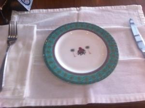 Elephant motifs on the Asian Tea plates at Biku