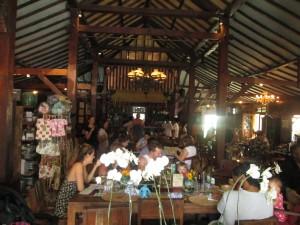 Inside Biku tea room in Seminyak, Bali
