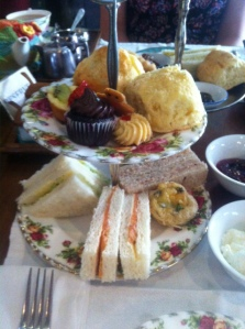 Traditional western afternoon tea on Bali at Biku