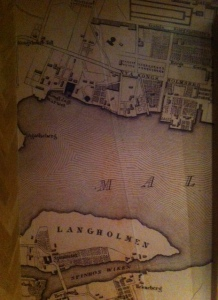 Map of Stockholm on Crematology coffee shop wall