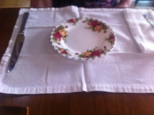 Floral plates for the western afternoon tea at Biku