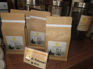 Coffee from Bali at Golden Honey coffee roastery in Denpasar