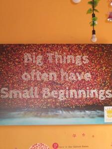 Poster in Golden Honey coffee shop in Denpasar