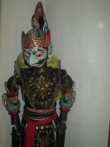 Indonesian puppets in Jakarta