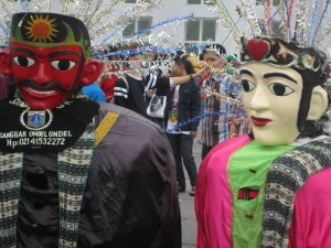 Puppets in the main square of Batavia/Jakarta