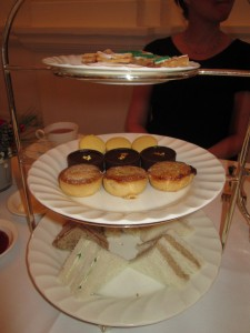 Afternoon tea at Raffles in Singapore