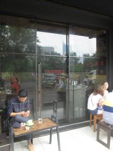 Outside Tanamera Coffee in Jakarta