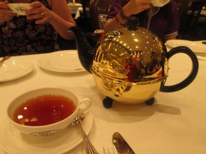 Indonesian tea served at TWG tea room in Jakarta